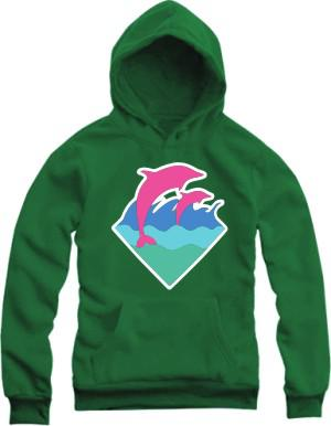 fashion hip hop hoodies new arrival dolphin printed pullover for spring/autumn Pink Dolphin Hoodies