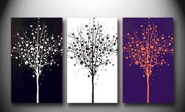Captivating 2018 Abstract Tree Black White Purple Oil Painting Canvas Scenery Home  Office Wall Art Decor Handmade From Fashiondig, $64.79 | Dhgate.Com