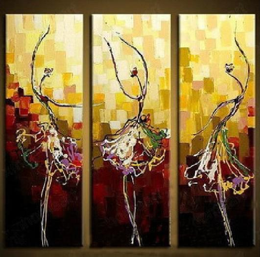 2017 Girl Dancing Portrait Abstract Dance Oil Painting