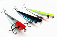 ingrosso tipi di esche da pesca-Fishing Lure Popper Hard Plastic Bait VMC Hook Floating Type Two Size Three color Alta qualità