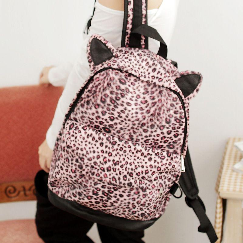 FLYING BIRDS 2013 Fashion Leopard Print Backpack Vintage Student School Bag Womens Messenger Bags H