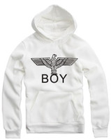 Wholesale White Boy London Sweatshirt - Free shipping london boy hoodies for spring autumn winter boy london Hoodies boy eagle printed hoodie hip hop Sweatshirts with hood 8 color