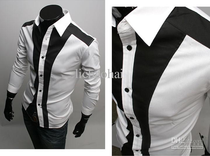 Online Cheap 2016 New Blending White Men'S Casual Long Sleeved ...