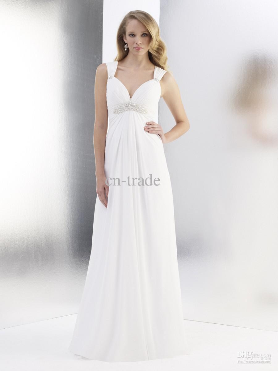 2013 Elegent Moon Light Wedding Dresses Sweetheart Pleated Beads V ...