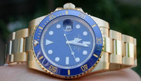 LUXE MENS GOLD V CERAMIC BEZEL WATCH MEN AUTOMATIC DIVE WATCHES BOX