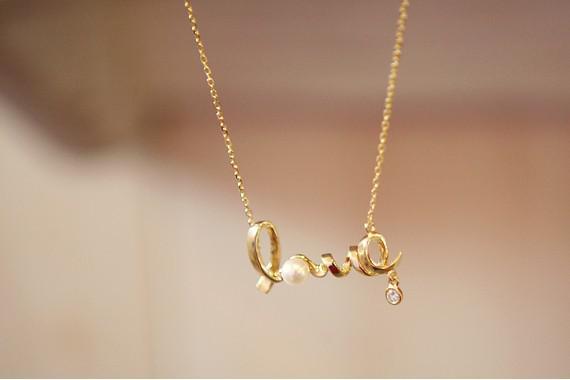 액세서리 패션 성격 올 우아한 모든 일치 짧은 디자인 사랑 편지 목걸이 silvergold
