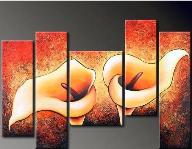 Abstract Wall Flower oil painting canvas Modern Home Office wall art decor  decoration Gift Handmade
