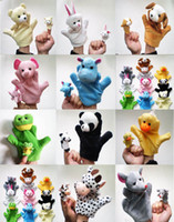 Wholesale Panda Bear Puppet - Big Size Animal Hand Puppets Dolls(Bear Panda, Elephant, Duck, Rabbit, Hippo, Mouse, Cow, Frog, Dog)