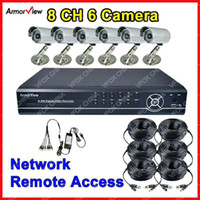 Wholesale Home Dvr Ch - 8 CH Channel 6 Camera DVR System Home Security Surveillance SHARP CCD Camera 36X IR 8 CH DVR Kit CCT