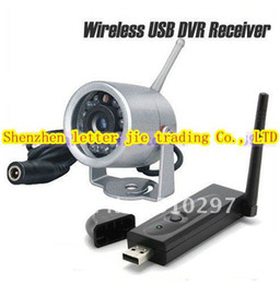 Wholesale Wireless Usb Mini Cctv - 12 IR lED 7m Night vision 380TV lines 2.4G Wireless IR Mini CCTV camera with USB wireless receiver K