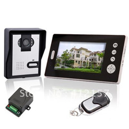 """Wholesale Wireless Door Monitoring System - Home Security Wireless 7"""" TFT LCD Monitor Color Camera Kit Video Door Bell PHone Intercom System"""