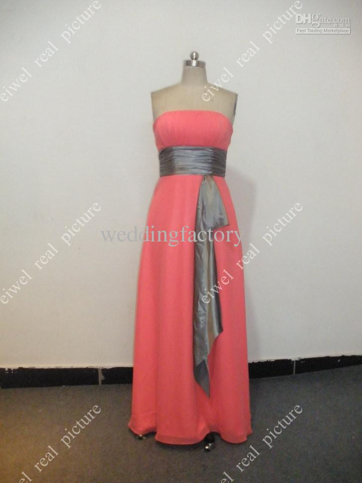 Ankle Length Bridesmaids Dresses with Waistband Strapless A Line Ruffled Elegant Maid of Honor Gowns