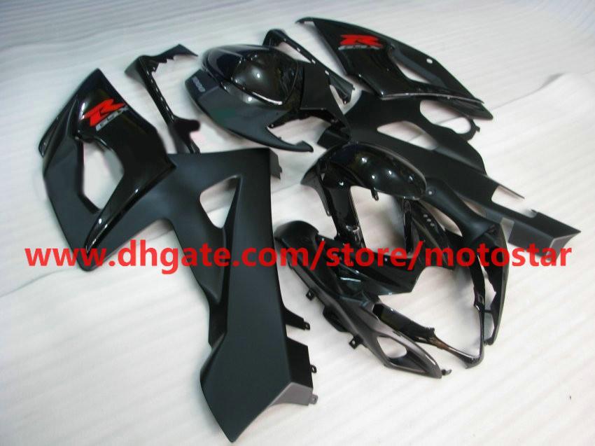 Pour 2005 2006 SUZUKI GSX-R1000 K5 GSXR1000 05 06 GSXR 1000 carénages complets brillant noir # 5KQ