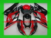 ingrosso k5 kit completo di carenatura-Carenatura per il 2005 2006 SUZUKI GSX-R1000 K5 GSXR1000 05 06 GSXR 1000 kit carene complete OEM rosso nero # 5KS
