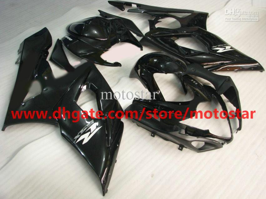 Parts combination For 2005 2006 SUZUKI GSX-R1000 K5 GSXR1000 05 06 GSXR 1000 gloss black fairing kit