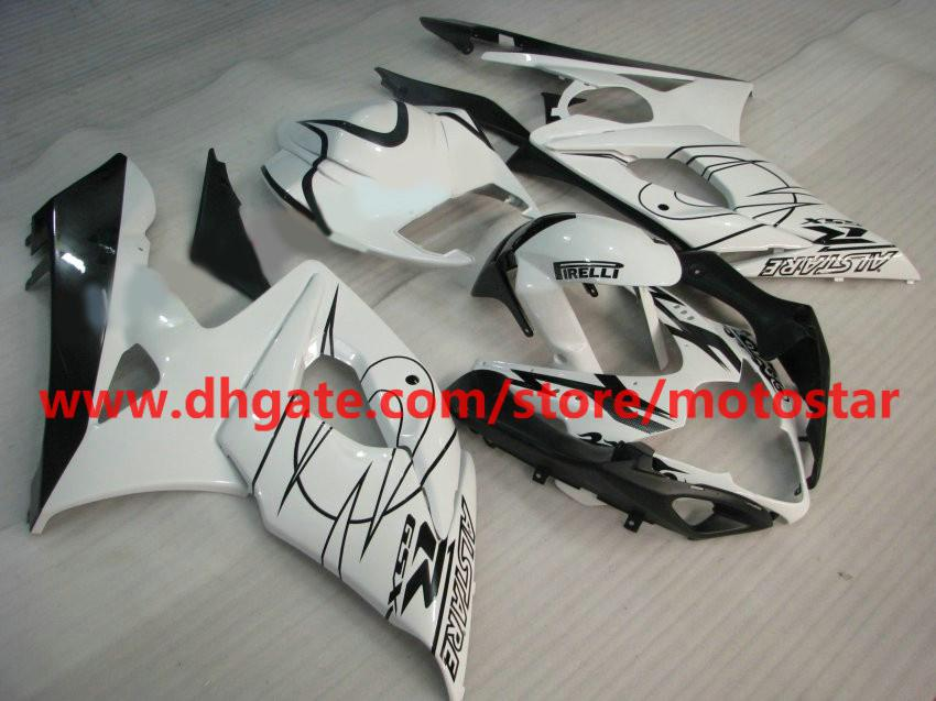 3 in 1 For 2005 2006 SUZUKI GSX-R1000 K5 GSXR1000 05 06 GSXR 1000 white Alstare fairings kit