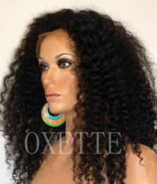 "Wholesale Glueless Curls Lace Wigs - 16"" #1B,100% Virgin Brazilian Hair,Afro Kinky Curl, Glueless Lace Front Wigs for Black Women UPS DHL"