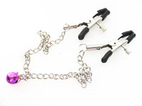Wholesale Gadgets Sex - Chained Women Nipple Clip Clamp SM Bondage Clips Clamps BDSM Games Gadgets Sex Toys Adult Products YTJ1131