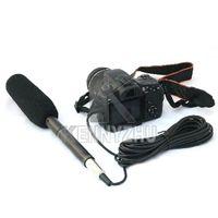 sistema de cámaras de china al por mayor-Escopeta profesional Entrevista Condensador Sistema unidireccional Cámara videocámara Micrófono Micrófono Conector de 3.5 mm para Canon Nikon