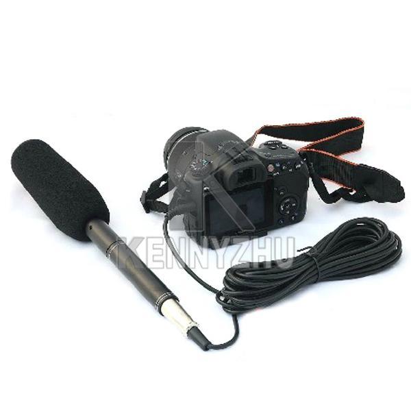 Profesyonel Shotgun Röportaj Kondenser Uni-Yönlü Sistemi Kamera Kamera Mikrofon Canon Nikon için Mic 3.5mm Fiş