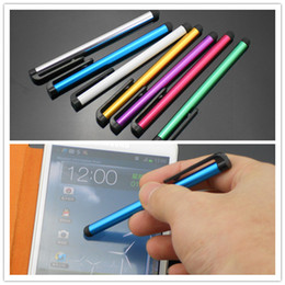Wholesale Metal Stylus Pens - 2015 hot sale Metal Stylus Touch Screen Capacitive Pen for HTC iPhone iPad Nokia Sumsung 48hrs