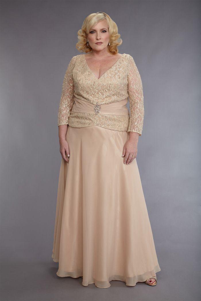 luxury plus size mother of bride dress v neck short sleeve