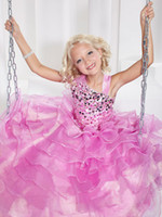 Lovely Pink Layers Tulle Flower Girl Dress Girls' Formal Dre...