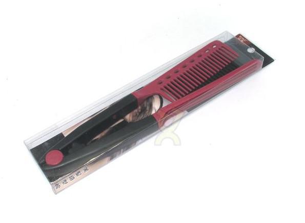 DIY Folding Hairdressing Salon Styling Brazilian keratin treatment Grip Straightening V Comb NIB