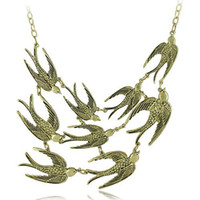 Wholesale free bird necklace - Wholesale Jewelry Store Vintage Bird Necklace  9 Swallows Necklaces Free Shipping