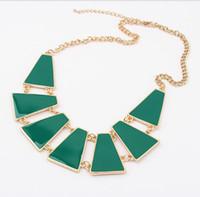 pedido de gargantilla al por mayor-Fashion Mark Min Order 15 $ Envío gratis Promotion 2013 Gold Geometry BibChokerStatement Necklaces