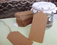 Wholesale Message Tags - Retro Gift tag, message cards Kraft Tag tags ,table card, Scallop Kraft Blank Hang tag with rope