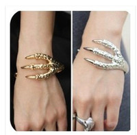 Wholesale Eagle Talons Bracelet - Talons bracelet wristband eagle claw hand ring golden silver and vintage bronze 15