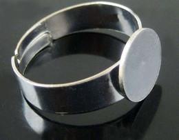 Wholesale Silver Tone Blank Rings - Hot ! Tibetan Silver Tone Adjustable Base Blank Open Rings(00786)