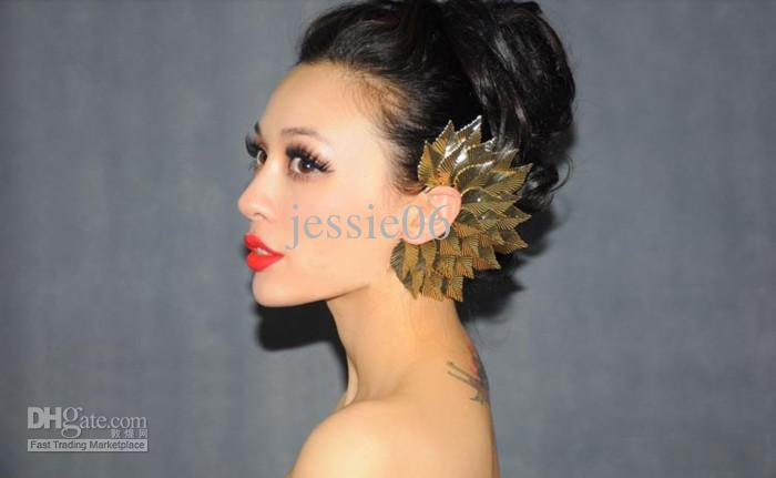 مثير المرأة القوطية الشرير الصخرة متعدد دور أوراق الصدار الأذن الكفة كليب حلق بروش الأذن هوك أقراط
