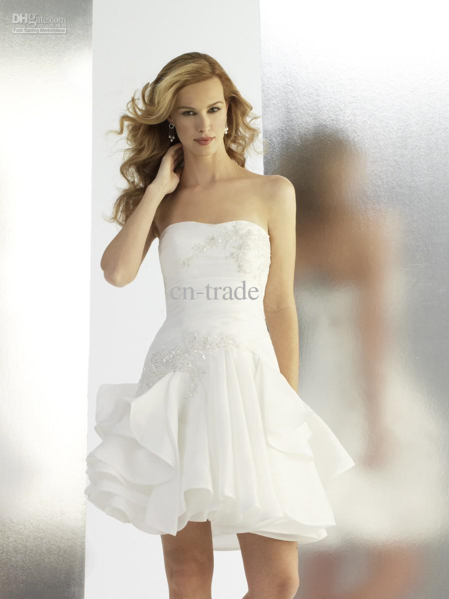 Wedding dress trade wedding ideas 2017 short a line wedding dresses strapless pleated beads junglespirit Gallery