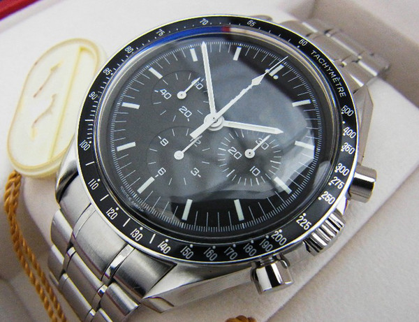 Men teel automatic black dial moon watch men profe ional broad arrow no chronograph mechanical automatic men watche
