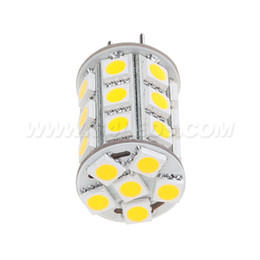 Wholesale Smd 12vdc - Free Shipping ! Led G6.35 Bulb GY6.35 27leds SMD 5050 4W Dimmable 12VDC 12VAC 24VDC 24VAC White Corn