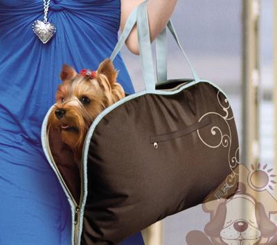 送料無料洗えるペット犬猫キャリアバッグ折りたたみ式マットショルダーバッグBluecoffee