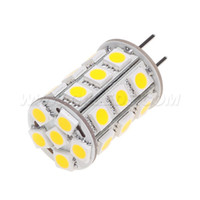 Spedizione libera! GY6.35 LED G6.35 Corn 27leds SMD 5050 4W dimmerabile DC10-30V / AC8-20V bianco 594LM