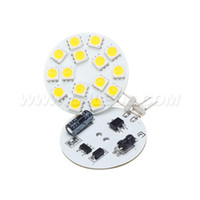 bombillas led smd 24v al por mayor-¡Envío gratis! Bombilla LED G4 Spot 15leds SMD 5050 3W AC / DC10-30V Regulable Blanco 330LM Envío automático