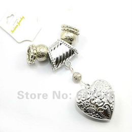 Wholesale Diy Scarves Pendant Set - Wholesale Romantic Jewellery Scarf CCB Heart Pendants Set DIY Charm Findings With CCB Beeds 12SETS LOT