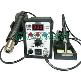 Discount rework hot air solder 2 in 1 ATTEN AT8586 Advanced Hot Air Soldering Station,SMD Rework Station 750W