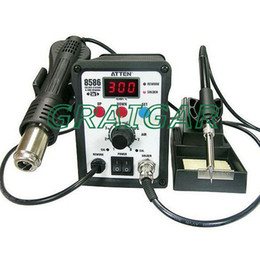Wholesale Solder Station Atten - 2 in 1 ATTEN AT8586 Advanced Hot Air Soldering Station,SMD Rework Station 750W