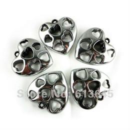 Wholesale Heart Shaped Pendant Scarf - New Arrival! Wholesale 12PCS LOT Silver CCB Romantic Heart Shape Pendant Jewellery Necklace Scarf Ac