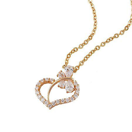Wholesale new arrival charming heart pendant necklace rose gold wholesale new arrival charming heart pendant necklace rose gold for women with matching chain silver jewellery online diamond pendants from sara001 aloadofball Images
