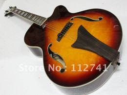 Guitar Electric Acoustic NZ - Wholesale - Honey Burst Hollow Acoustic Electric Guitar with High Quality Musical instruments Free Shipping