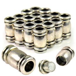 2019 ganchos de botão antigo 198 pçs / lote antique prata magneto fecho tubo com furo 6mm, PT-681