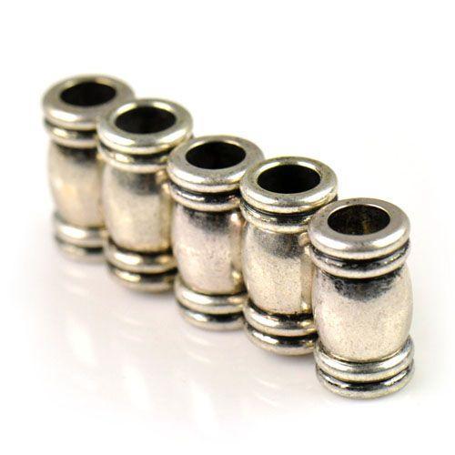 Antikes silbernes Magnetklammerrohr der Antike / mit Loch 6mm, PT-681