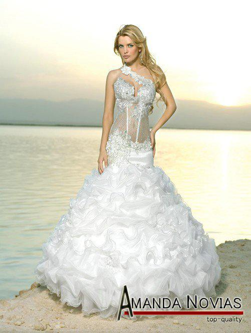 Arabic Mermaid Beach Style Wedding Dresses Special Dress Off The