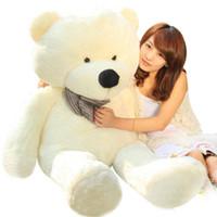 ingrosso grande teddy marrone-CALDO! GIANT 80 BIG PLUSH TEDDY BEAR ENORME 100% COTONE TOY * tre colori: marrone; Marrone chiaro; bianca